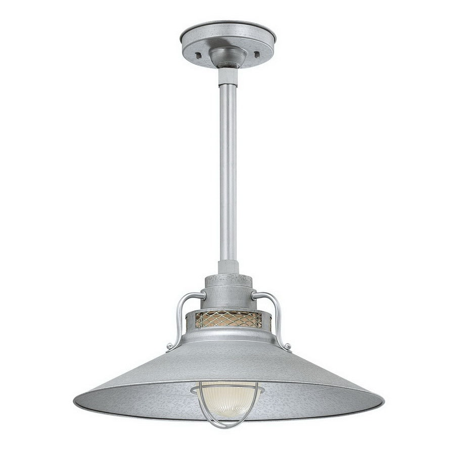 Millennium Lighting R Series 10-in H Gray/Silver Outdoor Pendant Light
