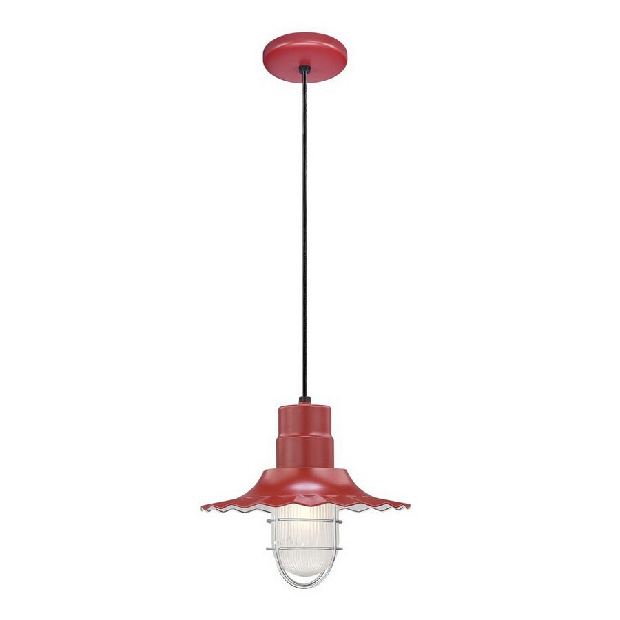 Shop millennium lighting r series 12 in w satin red mini pendant millennium lighting r series 12 in w satin red mini pendant light with shade aloadofball Image collections