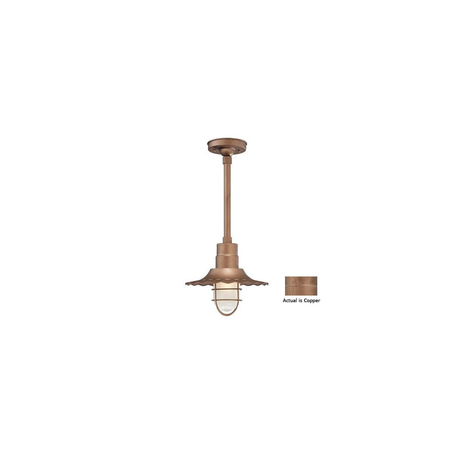 Millennium Lighting R Series 11-1/4-in Copper Outdoor Pendant Light