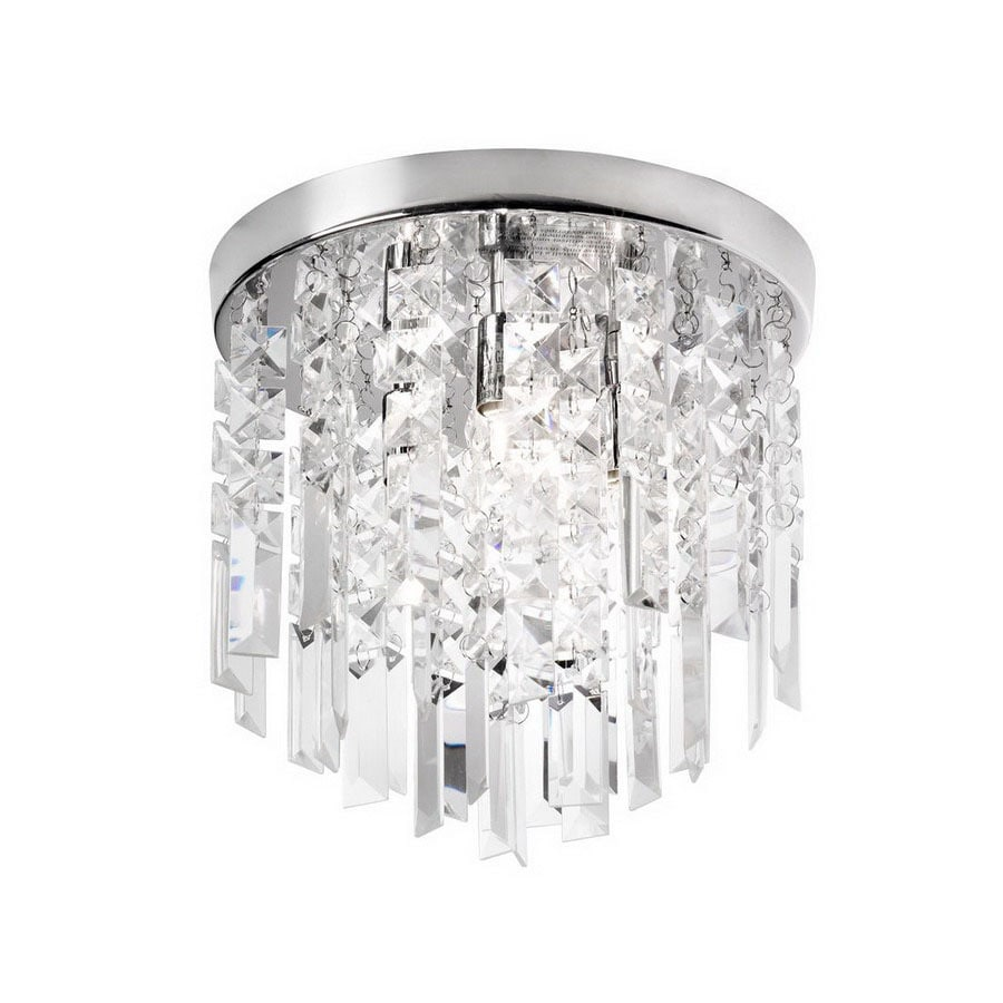 Dainolite Lighting 10-in W Polished Chrome Ceiling Flush Mount Light