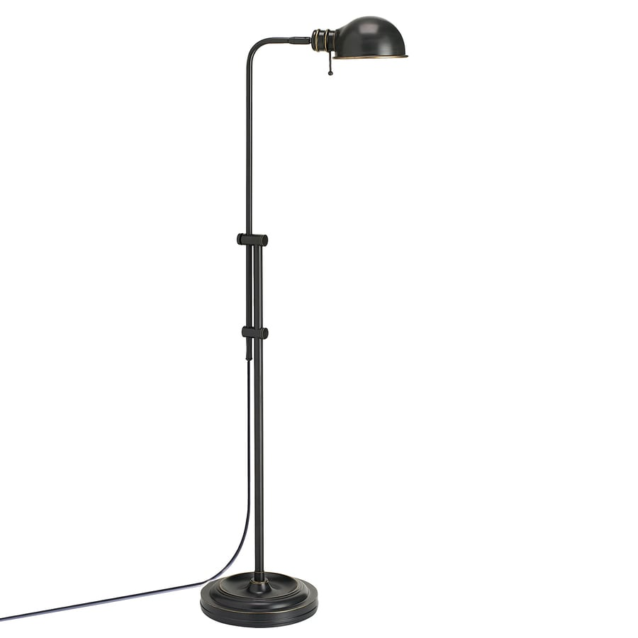 Dainolite Lighting 58-in Oil-Brushed Bronze Pharmacy Floor Lamp with Metal Shade