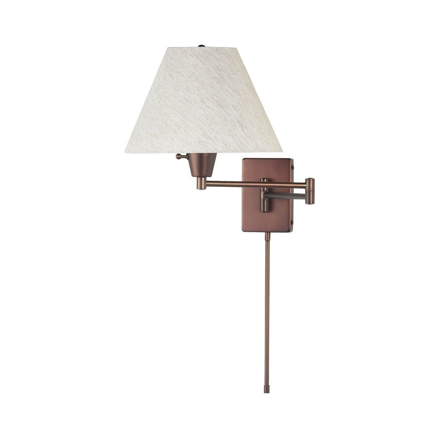 Dainolite Lighting Trilight 12-in W 1-Light Oil Brushed Bronze Arm Wall Sconce