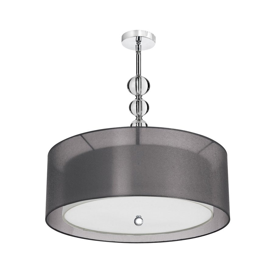 Dainolite Lighting 26-in Polished Chrome Single Crystal Drum Pendant