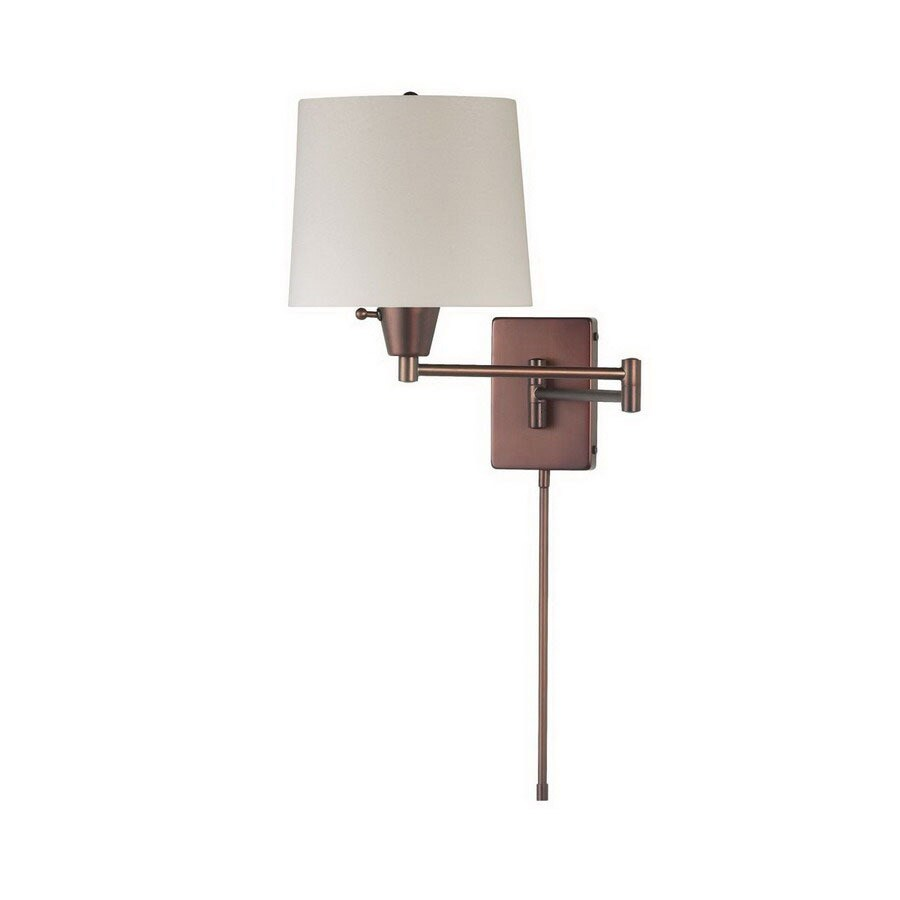 Dainolite Lighting Trilight 23-in W 1-Light Oil Brushed Bronze Arm Hardwired Wall Sconce