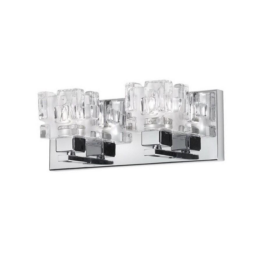 Dainolite Lighting 2-Light Polished Chrome Bathroom Vanity Light