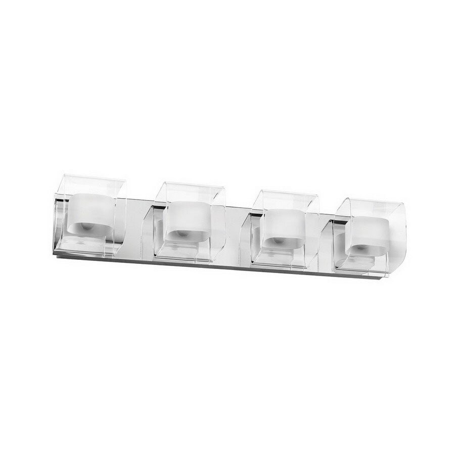 Dainolite Lighting 4-Light Polished Chrome Bathroom Vanity Light