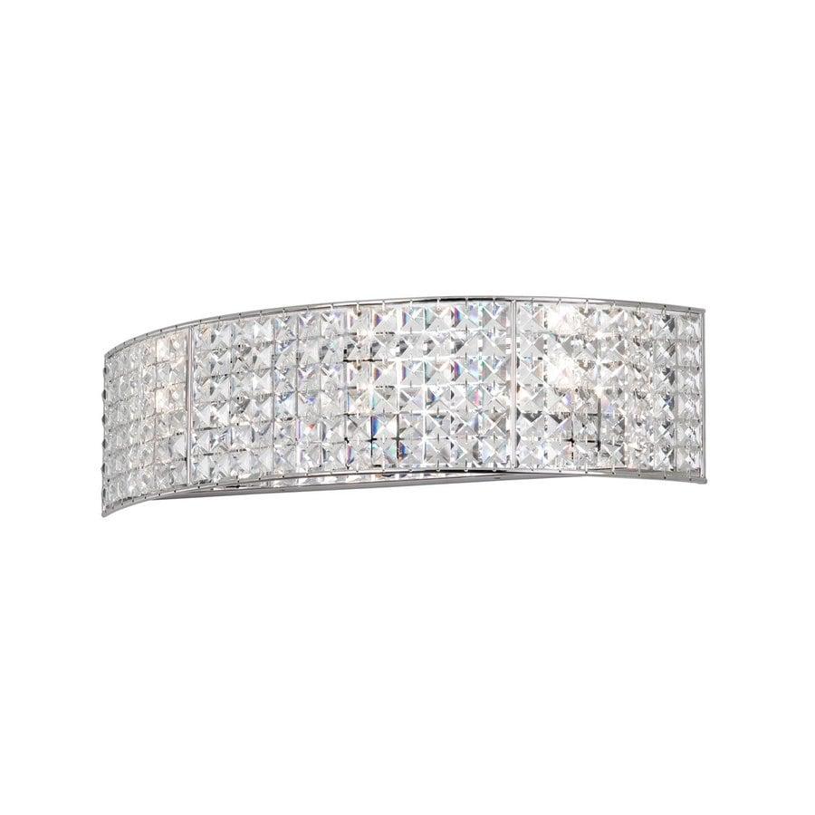 Dainolite Lighting 1-Light 5.5-in Polished Chrome Rectangle Vanity Light