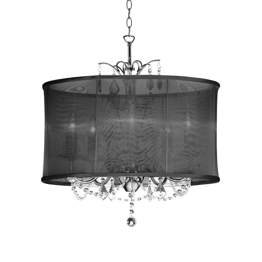 Dainolite Lighting Vanessa 20-in 5-Light Polished Chrome Drum Chandelier