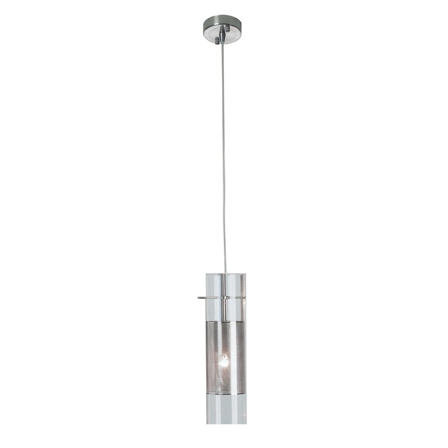 Shop trend lighting scope 5 in w brushed nickel mini pendant light trend lighting scope 5 in w brushed nickel mini pendant light with glass shade aloadofball Gallery