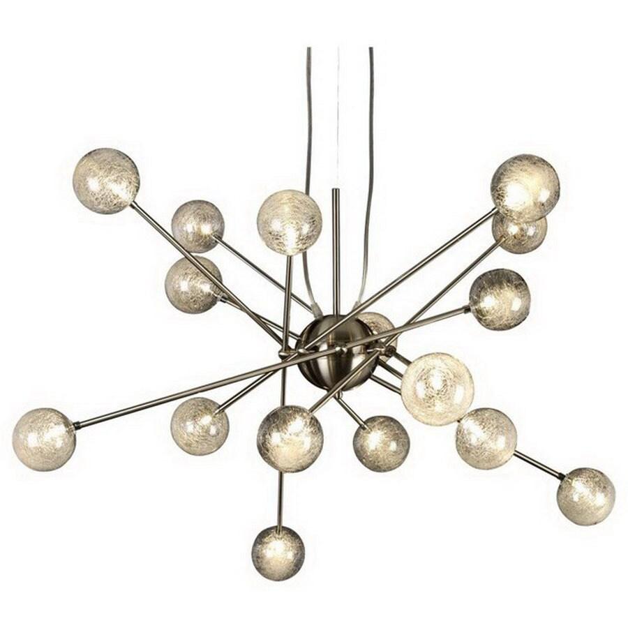 shop trend lighting galaxia light brushed nickel chandelier at  - trend lighting galaxia light brushed nickel chandelier