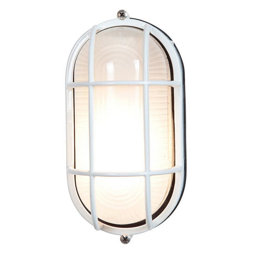 Access Lighting Nauticus 6-3/4-in White Outdoor Wall Light