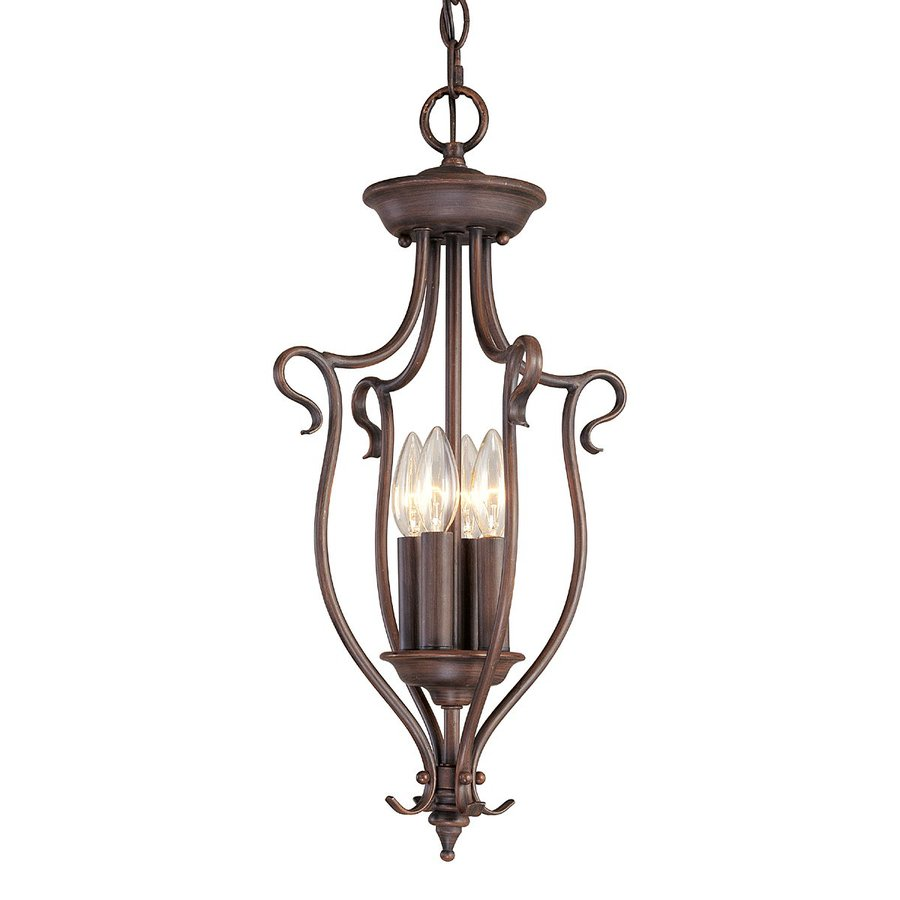Livex Lighting Coronado 11-in Imperial Bronze Vintage Single Cage Pendant