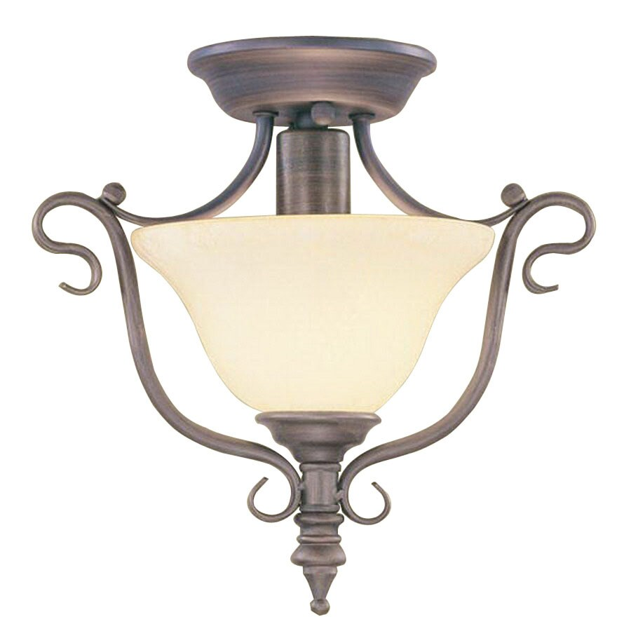 Livex Lighting Coronado 11.5-in W Imperial Bronze Semi-Flush Mount Light