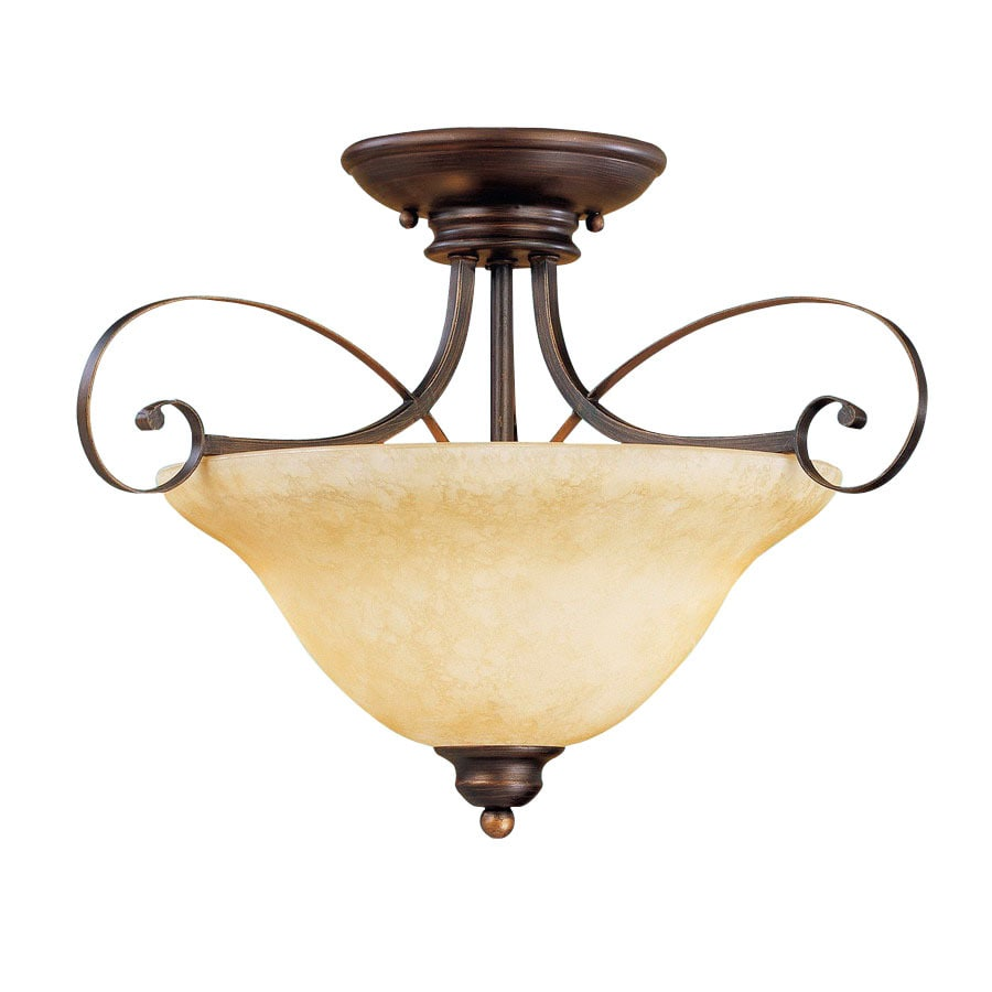 Millennium Lighting 18-in W Rubbed Bronze Semi-Flush Mount Light