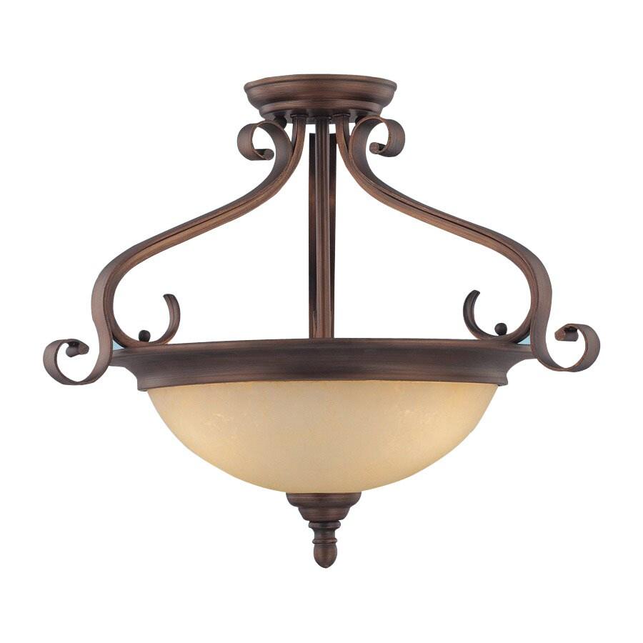 Millennium Lighting 19.5-in W Rubbed Bronze Semi-Flush Mount Light