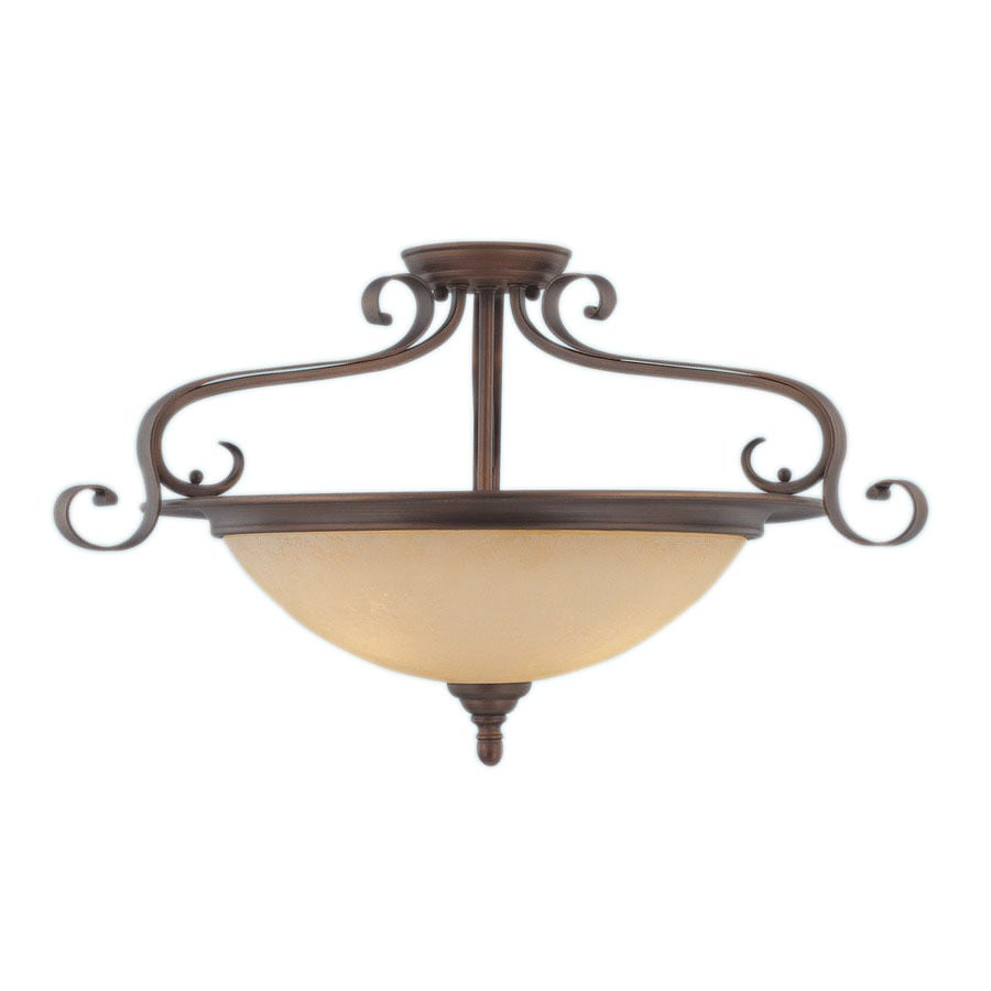 Millennium Lighting 27-in W Rubbed Bronze Semi-Flush Mount Light