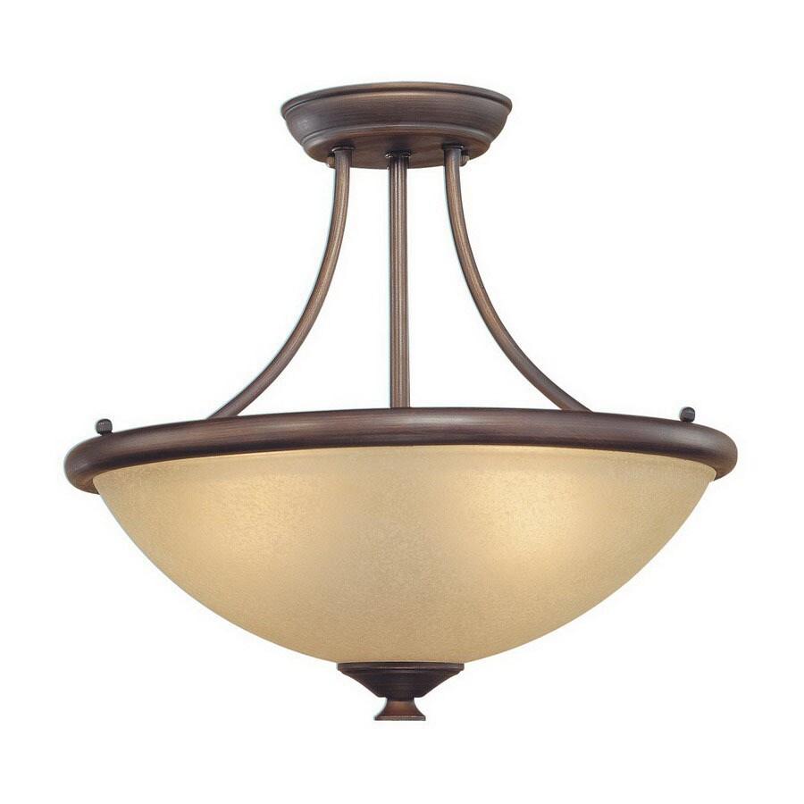Millennium Lighting 16.75-in W Rubbed Bronze Semi-Flush Mount Light