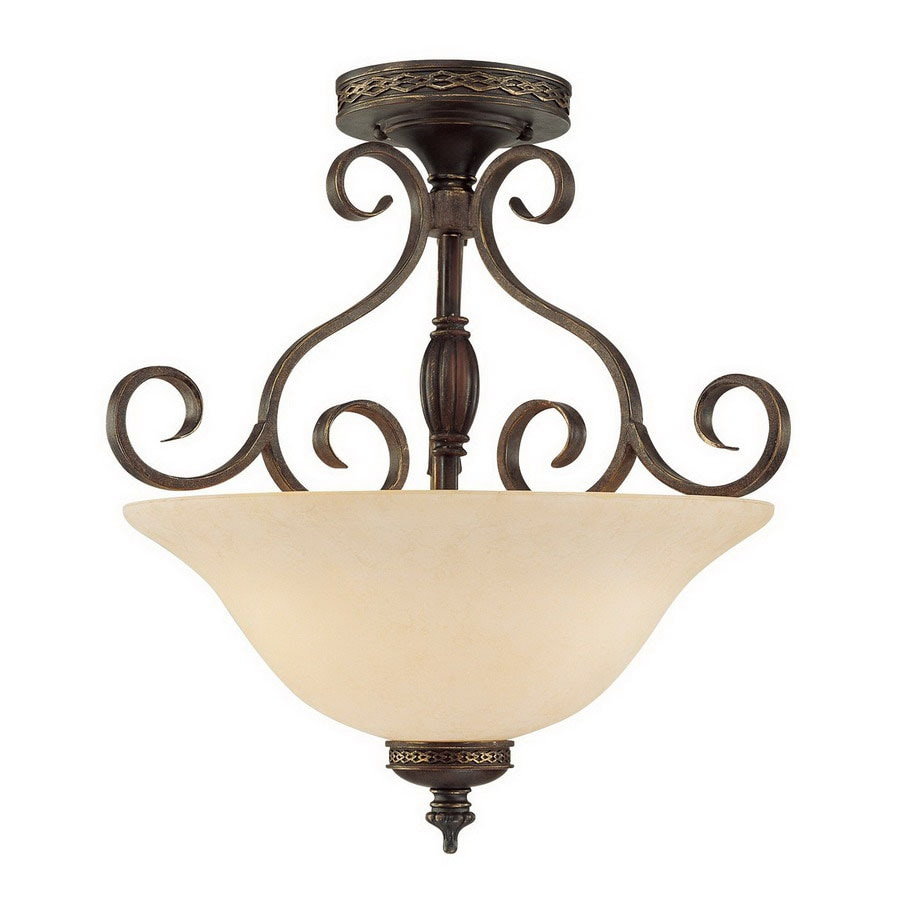 Millennium Lighting 18-in W Bronze/Gold Semi-Flush Mount Light