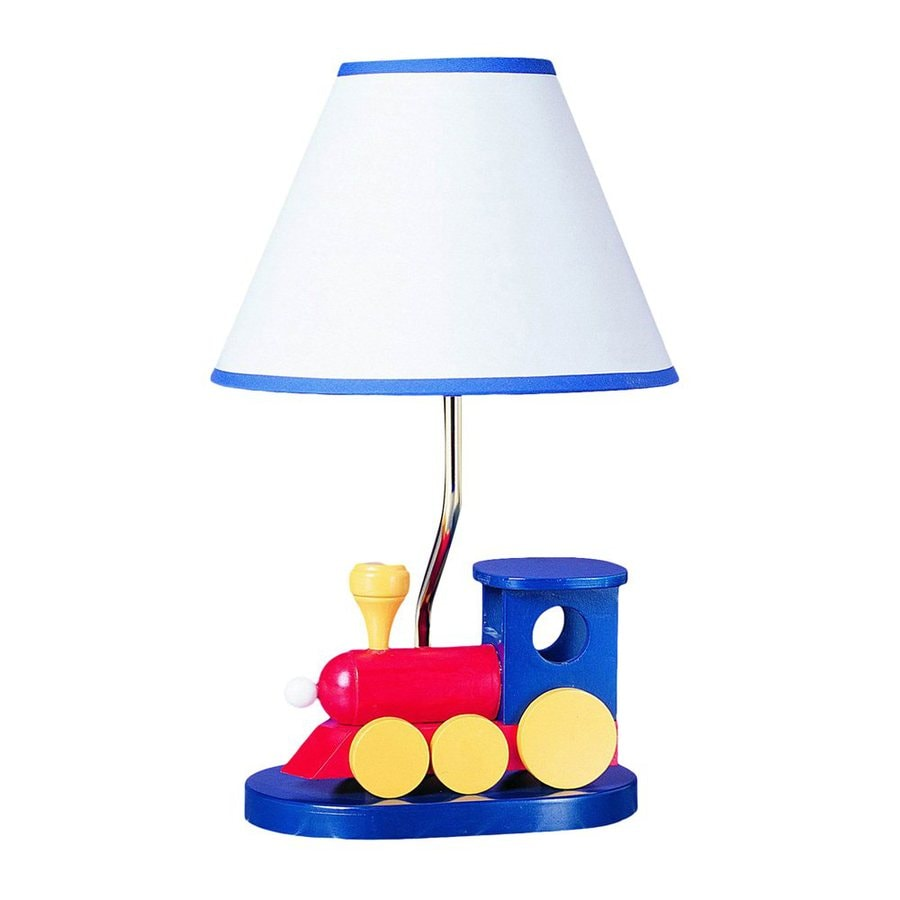 Shop cal lighting kids 15 in multicolor kids indoor table lamp with cal lighting kids 15 in multicolor kids indoor table lamp with shade mozeypictures Image collections