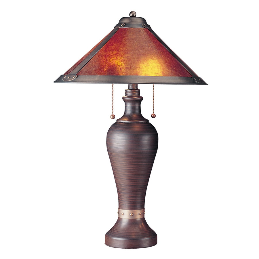 Cal Lighting San Gabriel 24-in Rust Indoor Table Lamp with Shade