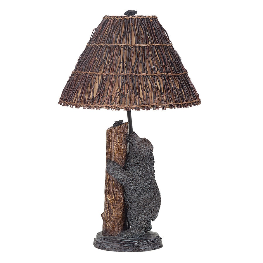 Cal Lighting 29-in  Table Lamp with Wood Shade