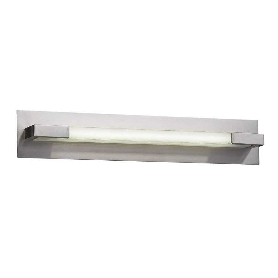PLC Lighting Polis 1-Light 4.75-in Satin Nickel Rectangle Vanity Light Bar