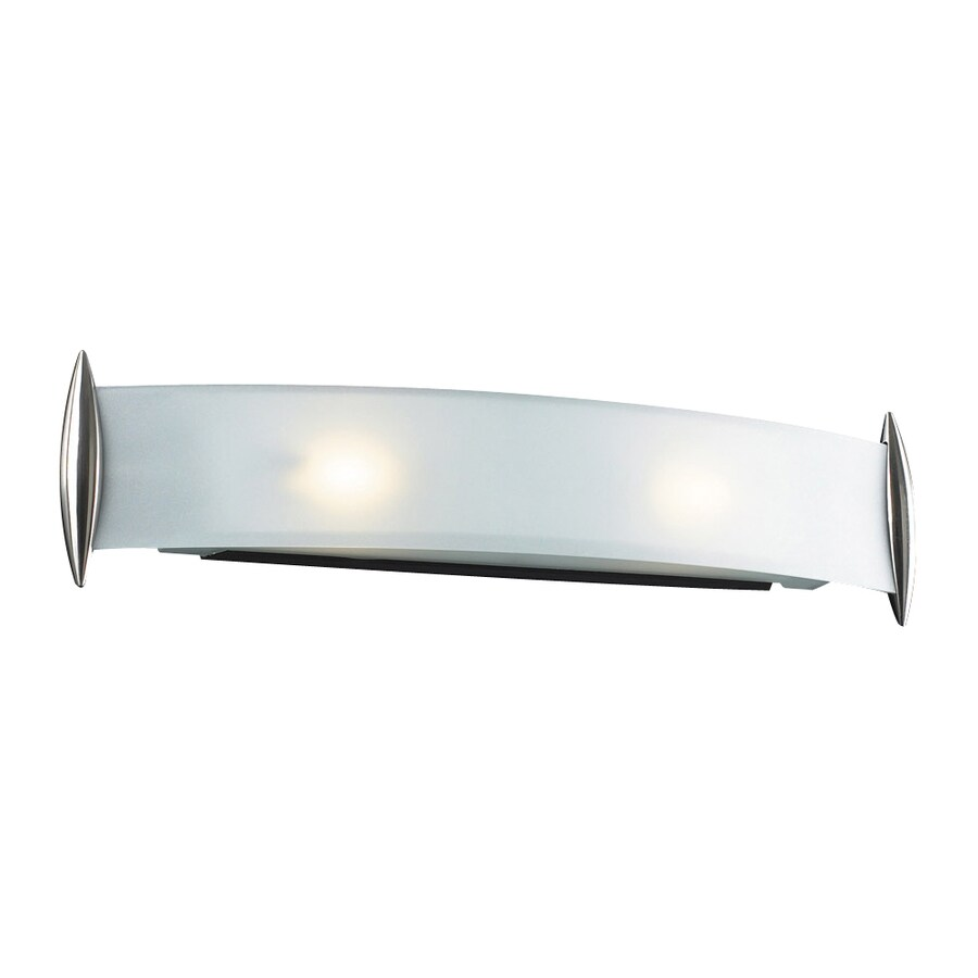 PLC Lighting Scroll 1-Light 6.25-in Satin Nickel Rectangle Vanity Light Bar