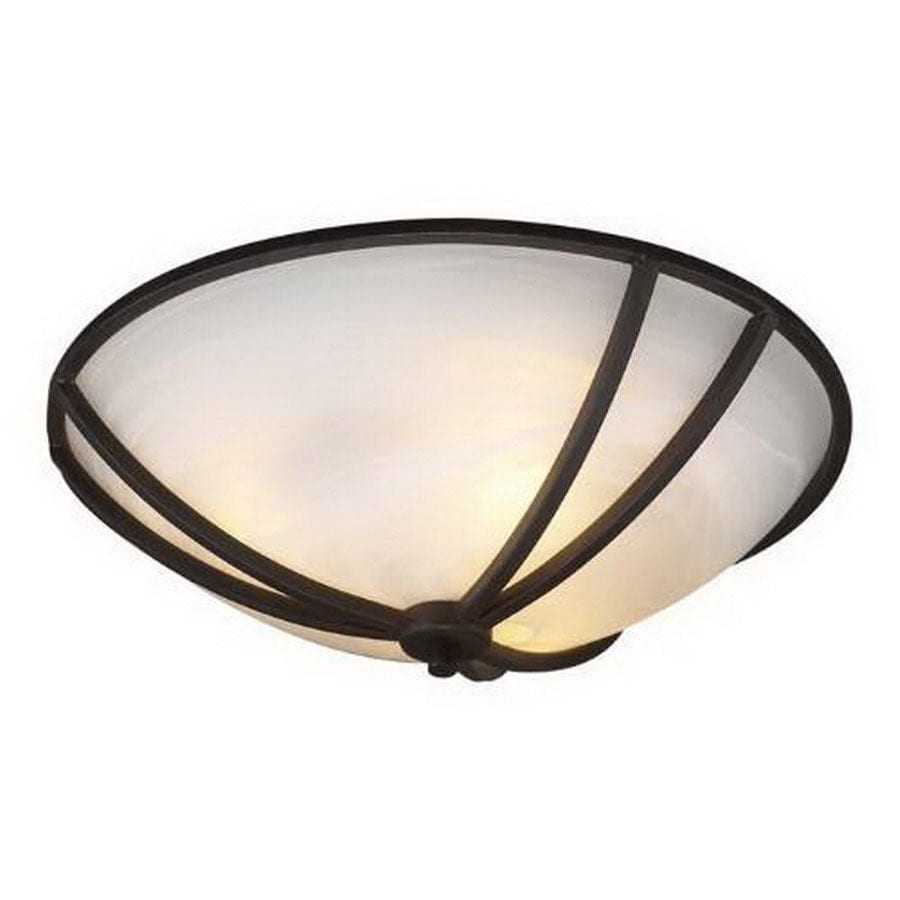 PLC Lighting 21-in W Oil Rubbed Bronze Ceiling Flush Mount