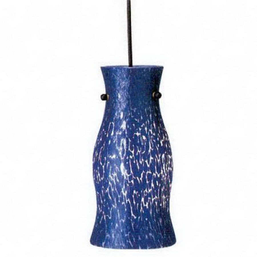 PLC Lighting Febo 5.75-in W Cobalt Blue Mini Pendant Light with Shade