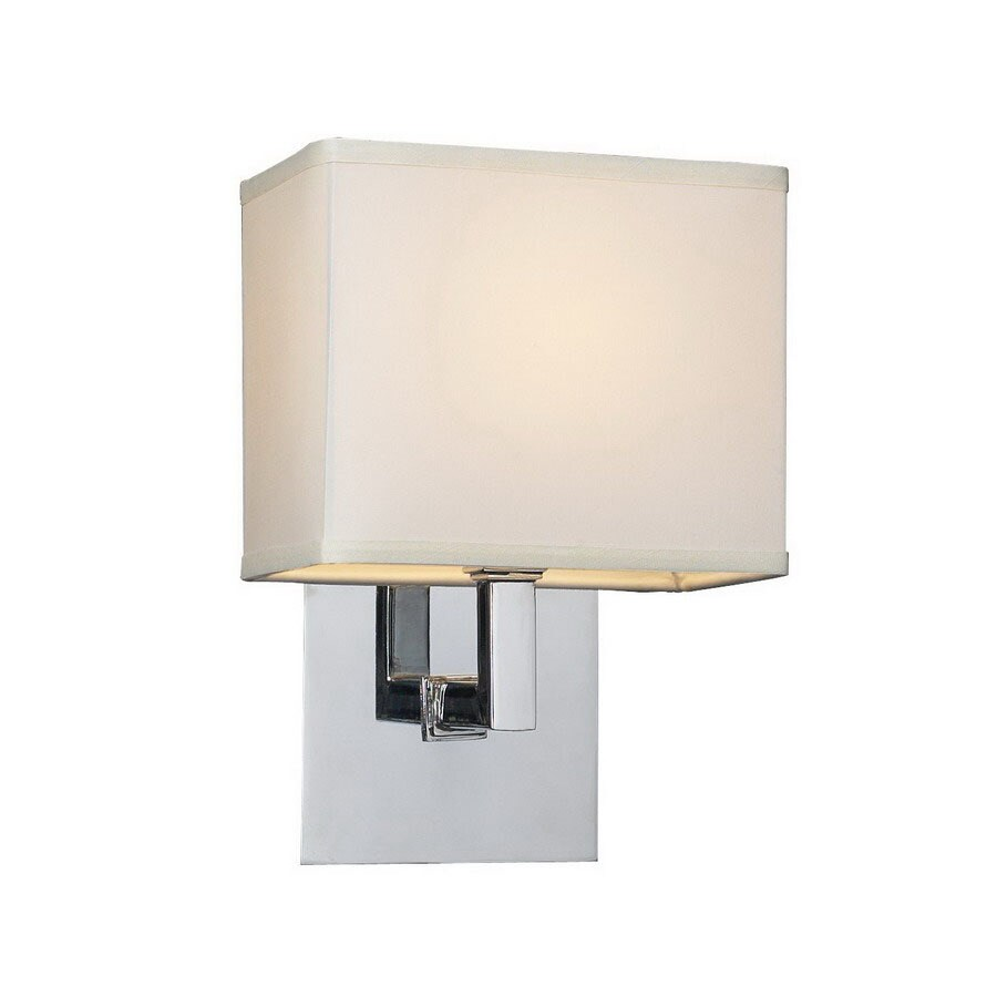 Shop PLC Lighting Dream 10-in W 1-Light Polished Chrome Arm Wall Sconce at Lowes.com
