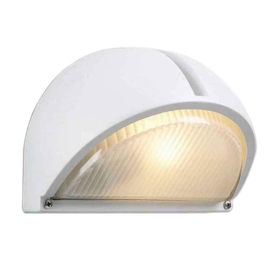 PLC Lighting Claret 6-1/4-in White Outdoor Wall Light