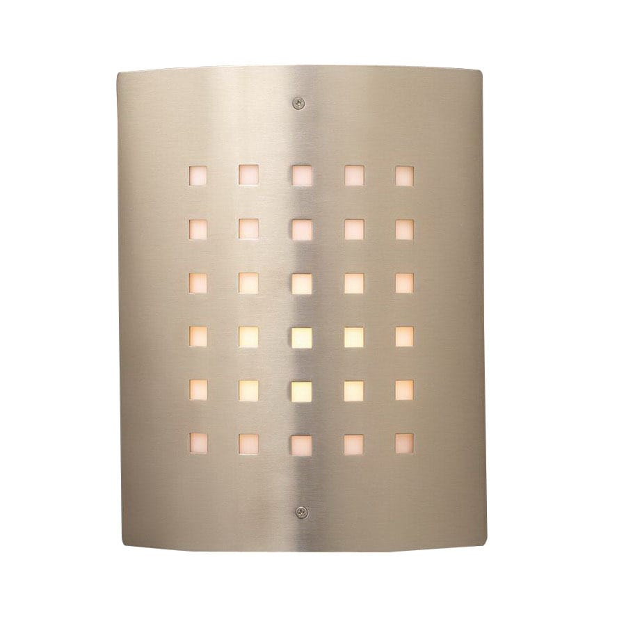 PLC Lighting Figaro 11-3/4-in Satin Nickel Outdoor Wall Light