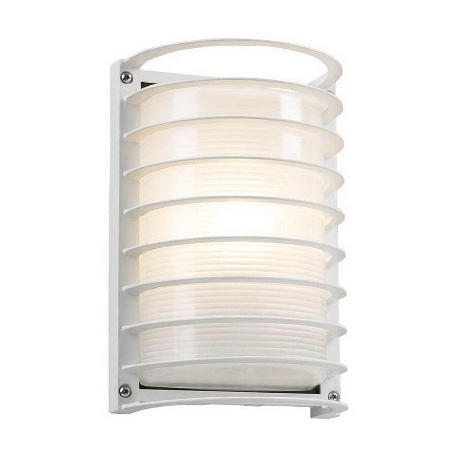 PLC Lighting Evora 10-1/2-in White Outdoor Wall Light