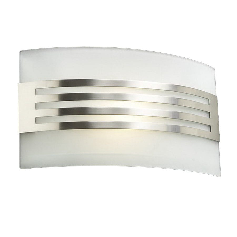 PLC Lighting Hundi 13-in W 1-Light Satin Nickel Pocket Wall Sconce
