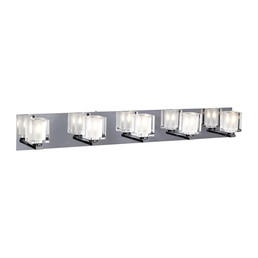 PLC Lighting Glacier 5-Light Polished Chrome Vanity Light