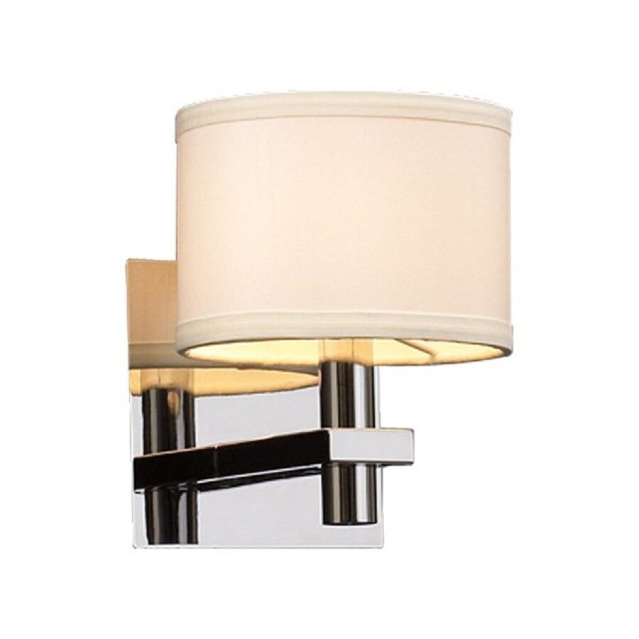 PLC Lighting Concerto 1-Light 8-in Polished chrome Drum Vanity Light