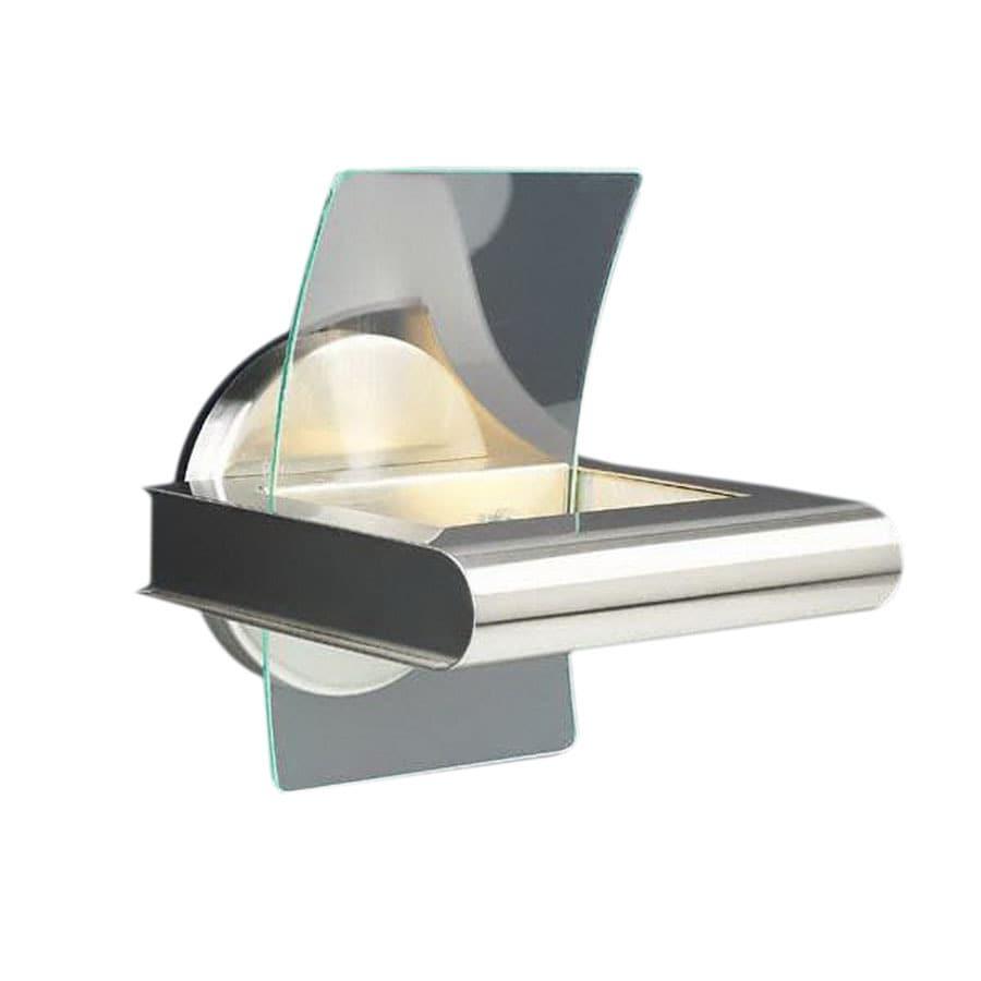 PLC Lighting Patrik 7.5-in W 1-Light Satin Nickel Pocket Wall Sconce