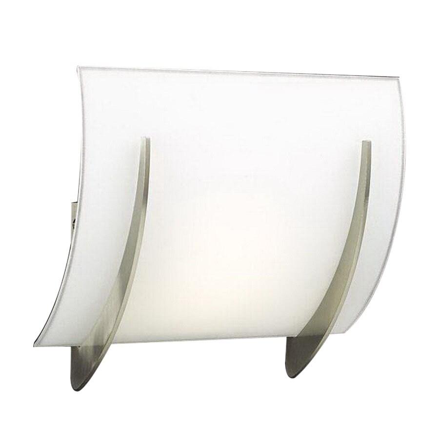 PLC Lighting Lisette 9.5-in W 1-Light Satin Nickel Pocket Hardwired Wall Sconce