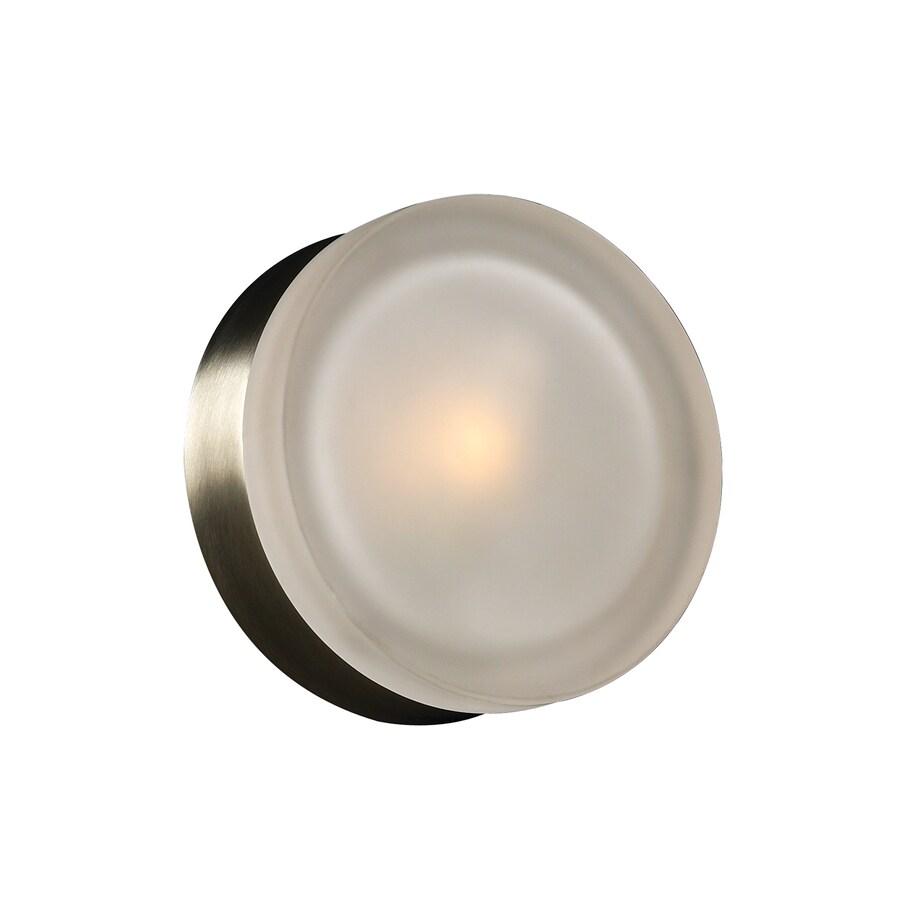 PLC Lighting Metz 6-in W 1-Light Satin Nickel Pocket Hardwired Wall Sconce