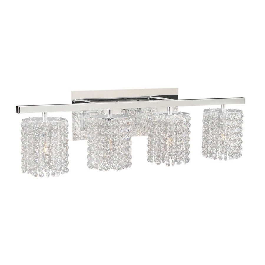 Shop PLC Lighting Rigga 4-Light 9-in Polished Chrome Waterfall Vanity Light at Lowes.com