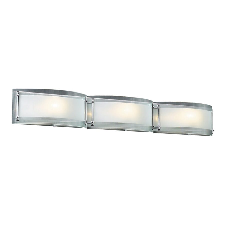 PLC Lighting Millennium 3-Light 5-in Polished Chrome Vanity Light