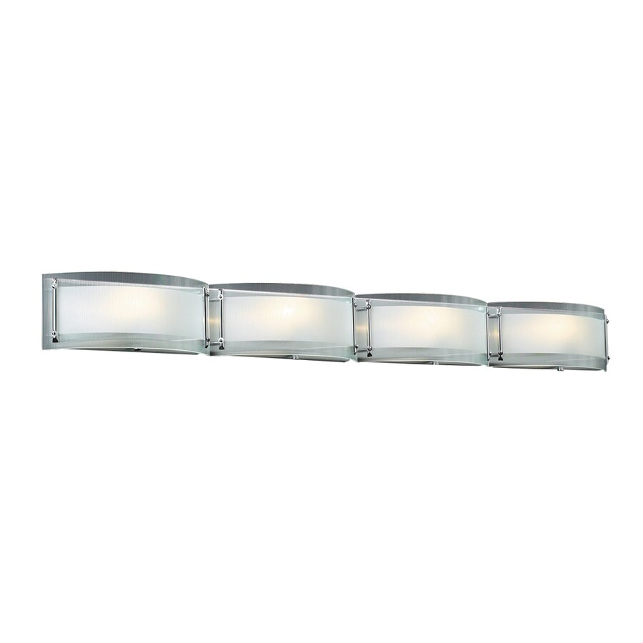 PLC Lighting Millennium 4-Light 5-in Polished Chrome Vanity Light