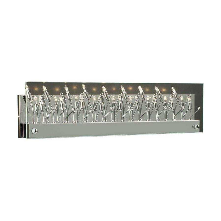 Vanity Light Bar Chrome : Shop PLC Lighting Lief 18-Light 6-in Polished Chrome Vanity Light Bar at Lowes.com