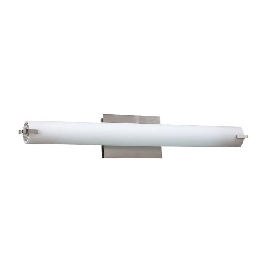 PLC Lighting Polipo 1-Light 4.75-in Satin nickel Cylinder Vanity Light Bar