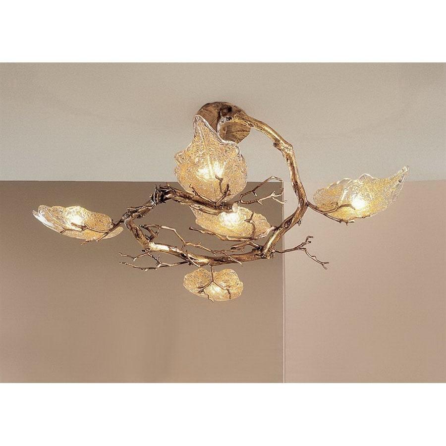 design classic lighting. Classic Lighting 5-Light Autumn Leaves Natural Bronze Chandelier Design