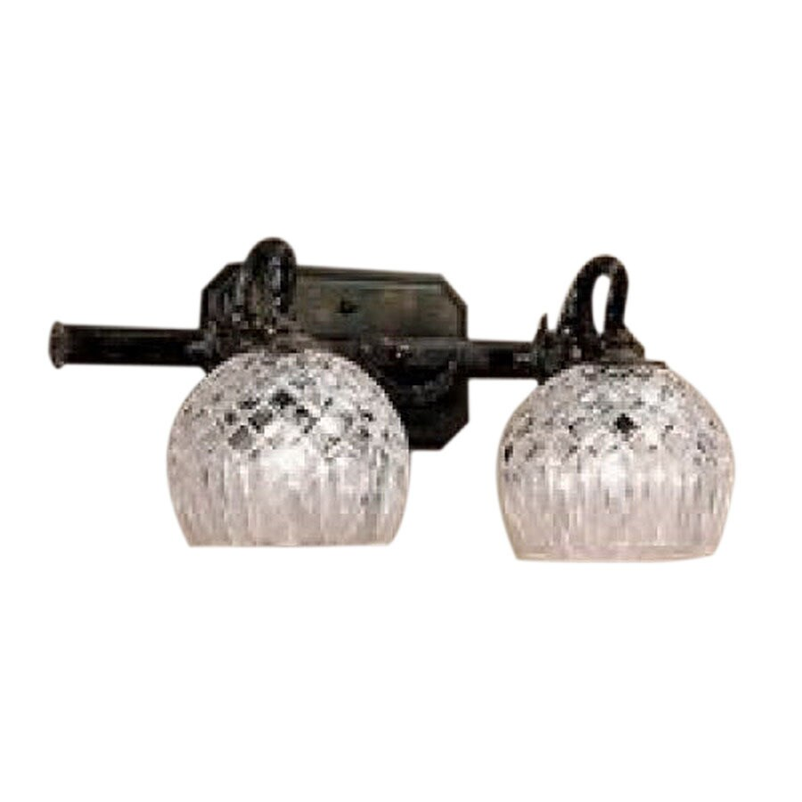 Classic Lighting 2 Light Waterbury Oxidized Bronze Crystal Bathroom Vanity Light