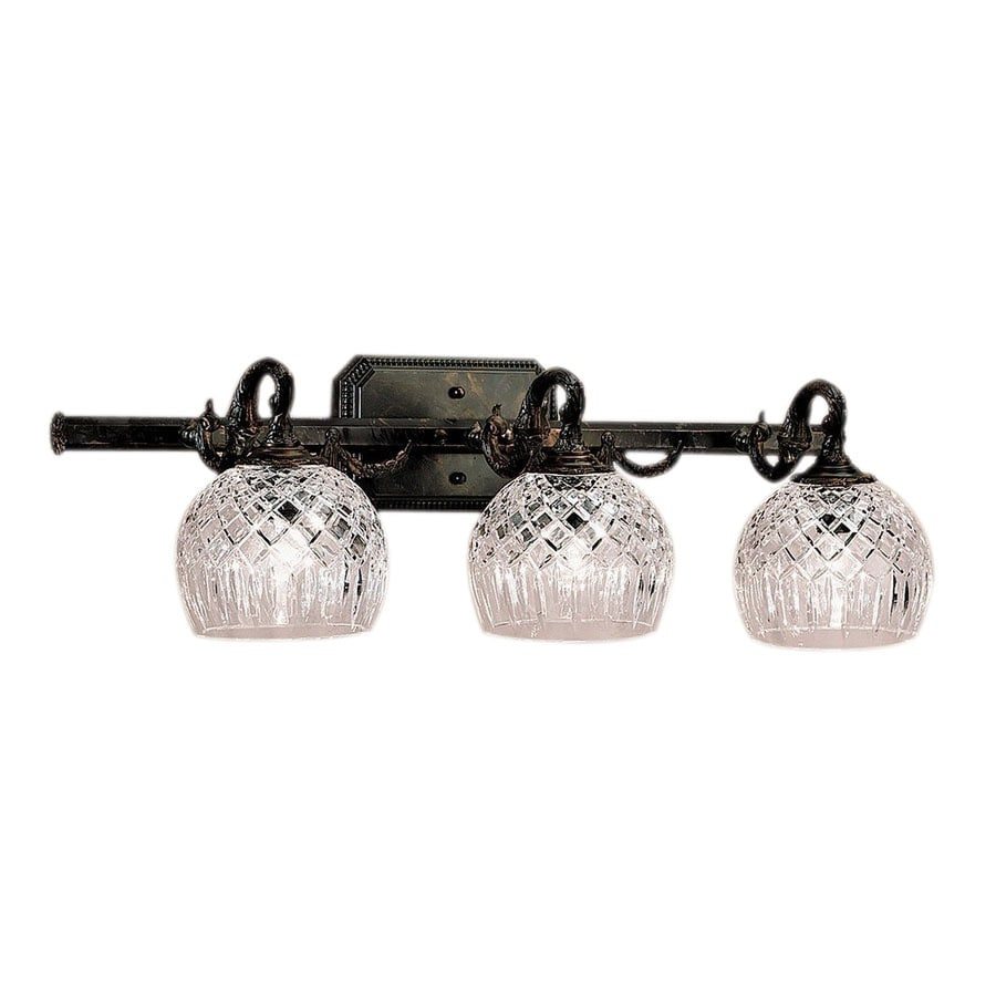 Classic Lighting 3 Light Waterbury Oxidized Bronze Crystal Bathroom Vanity  Light