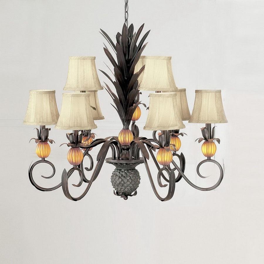 Shop classic lighting 9 light pineapple florentine bronze chandelier classic lighting 9 light pineapple florentine bronze chandelier arubaitofo Images