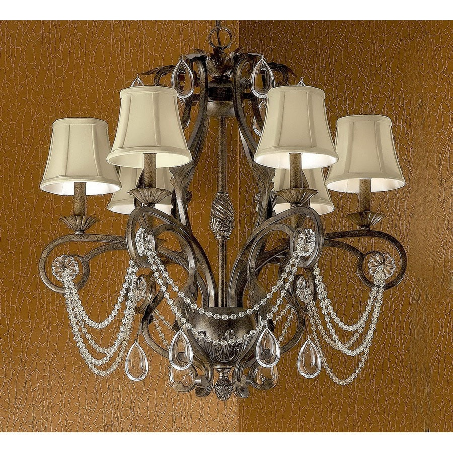 Clic Lighting Tuscany 6 Light Bronze Crystal Accent Chandelier