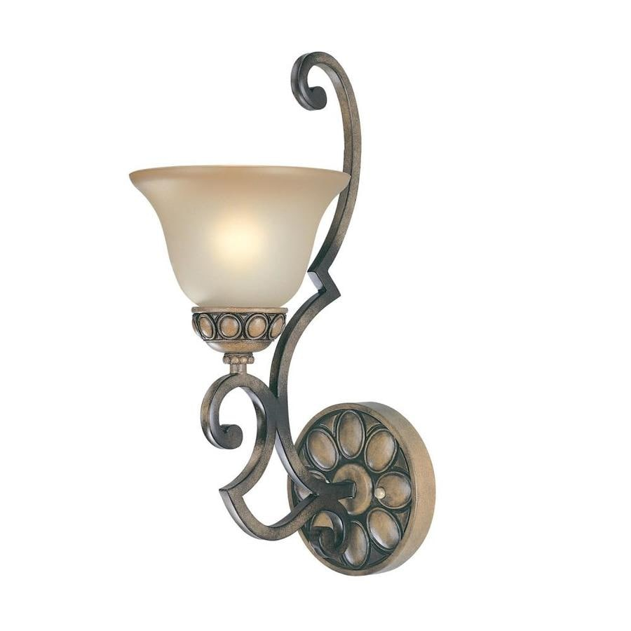 Classic Lighting Westchester 9-in W 1-Light Honey rubbed walnut Arm Wall Sconce